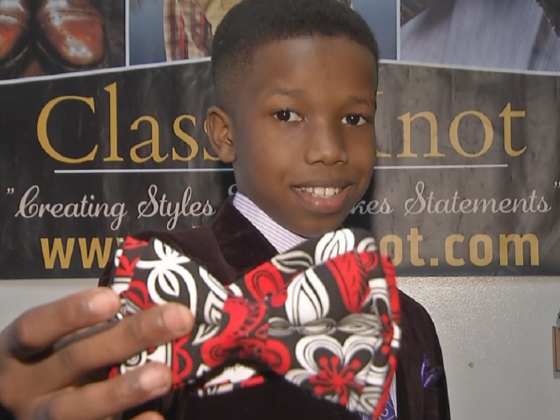 This 11-Year-Old Entrepreneur Jump Starts Accessory Line 'Classic Knot'