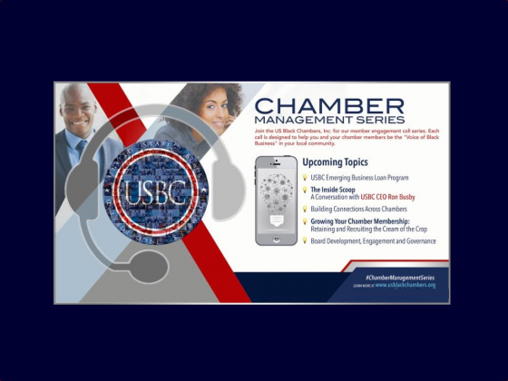US Black Chambers, Inc.'s Members-Only Conference Call